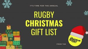 RUGBY Christmas gift list from The Amateur Rugby Podcast